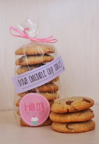 brown chocolate chip cookies