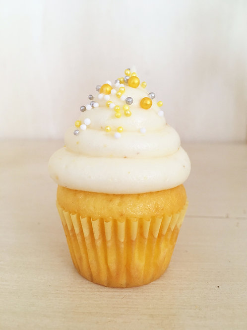 12 Lemon Mini Cupcakes