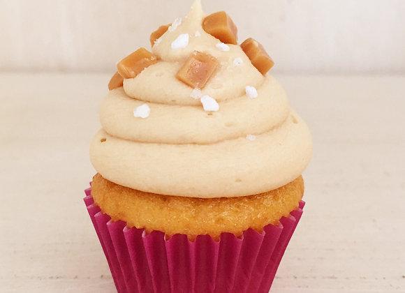 12 Salted Caramel Mini Cupcakes