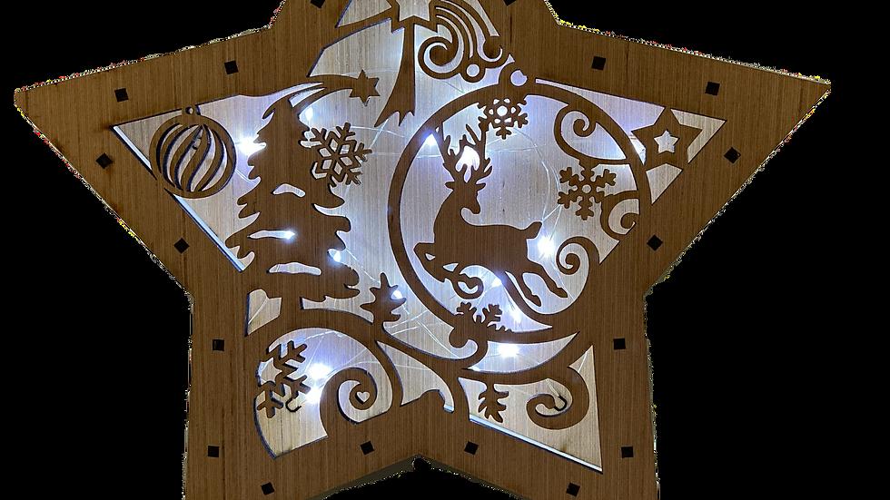 Star Light Box (Reindeer Winter Scene)