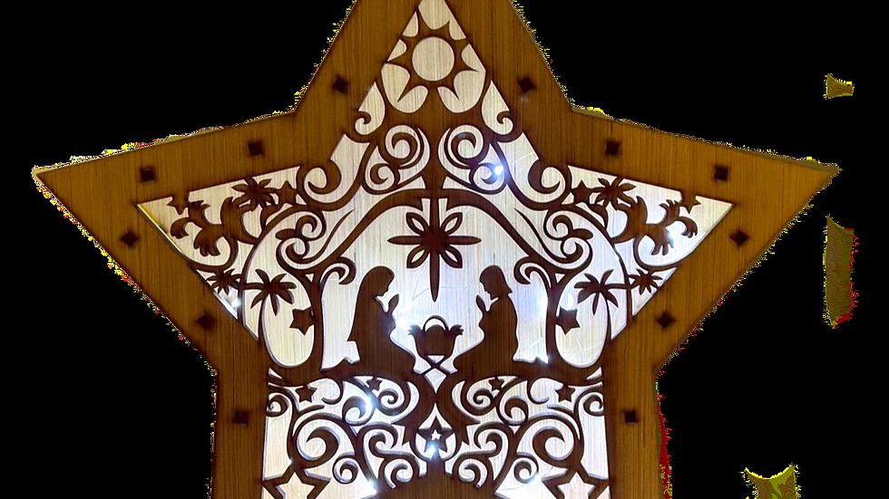 Star Light Box (Manger Scene)