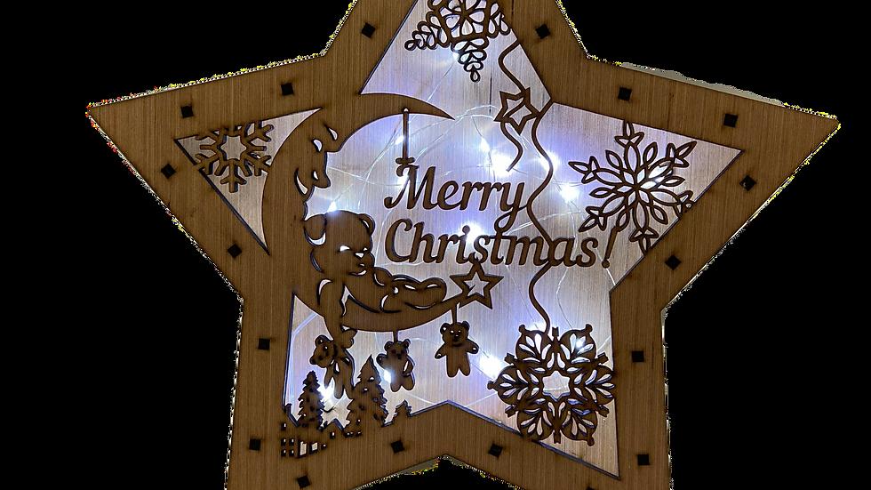 Star Light Box (Merry Christmas Scene)