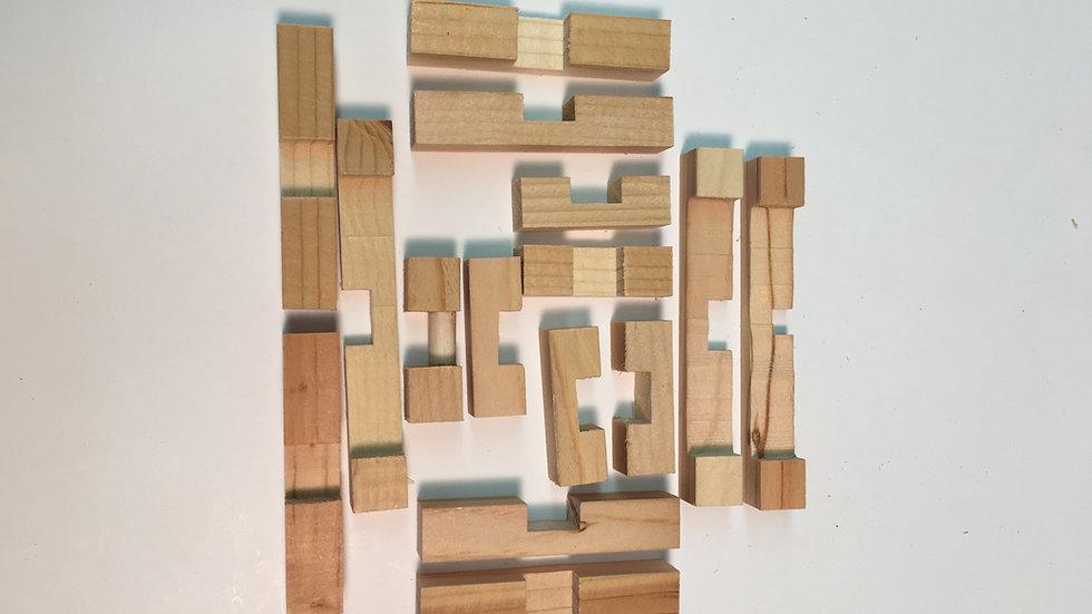 """15pc Star Puzzle (.50"""" design)"""