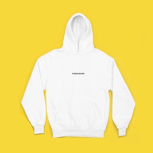 """White """"CITY"""" Pullover Hoodie"""
