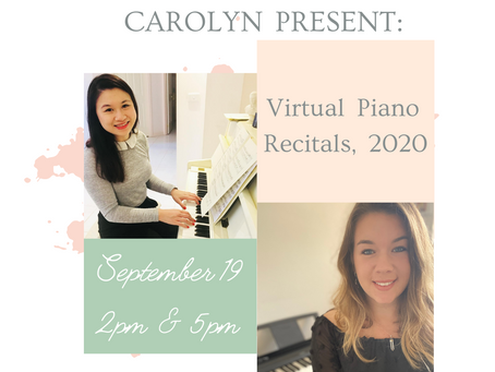 2020 and a new kind of recital...