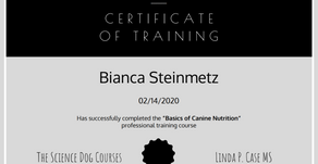 Basics of Canine Nutrition - Certified
