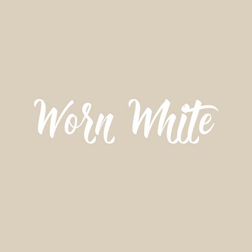 worn white