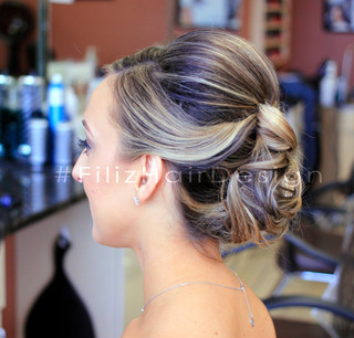 Formal Updo with Highlights and Style