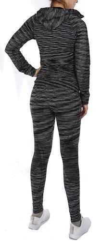 Loungewear Training Set Black Marled