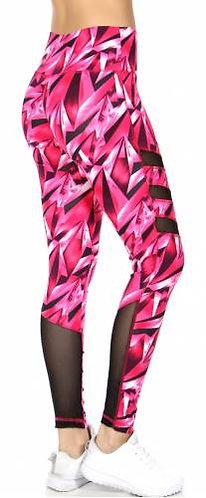 Blazing Pink Full Length Legging