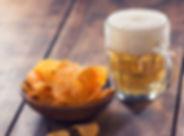 Bier und Chips