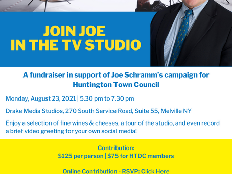 Join Joe Schramm at the TV Studio