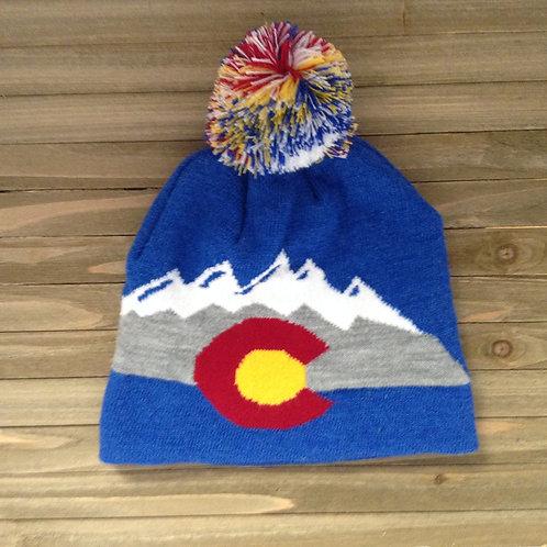 Synthetic Colorado SnowCap Mountain Beanie