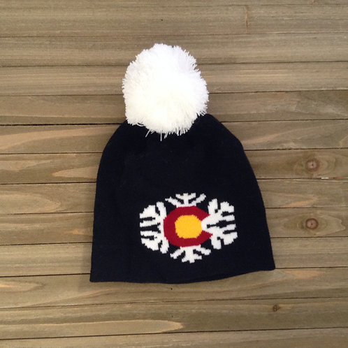 Synthetic Colorado Snowflake Beanie