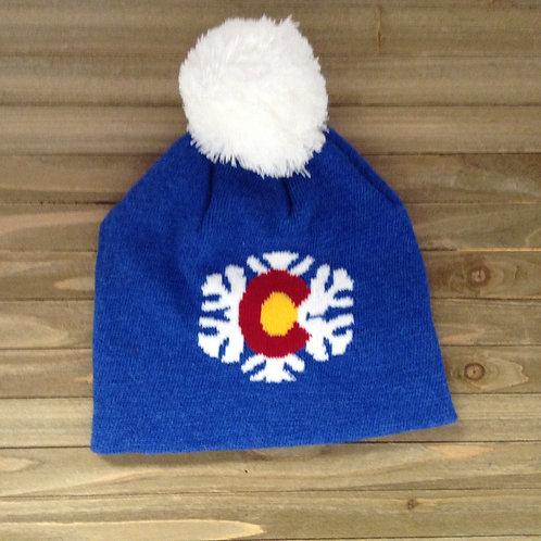 Synthetic Colorado Snowflake Hat