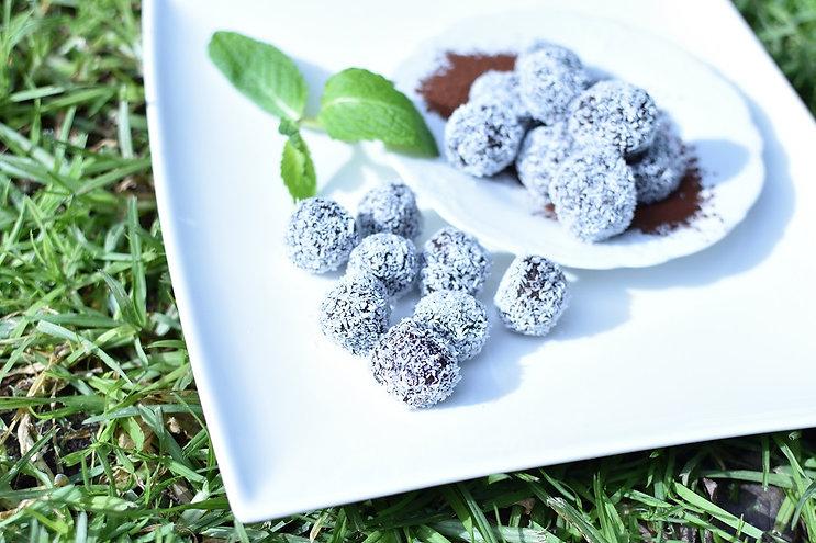 Choco Mint Bliss Balls Recipe - Hapisoy