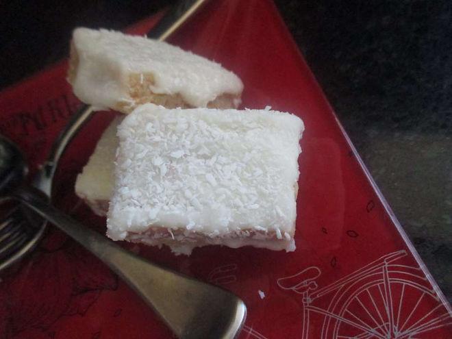 Vegan Lemon and Coconut Slice Recipe