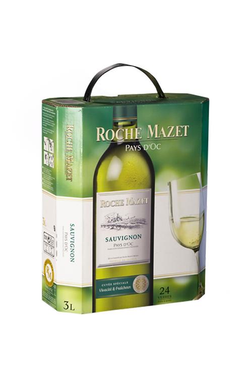 Vin blanc Sauvignon ROCHE MAZET 3L