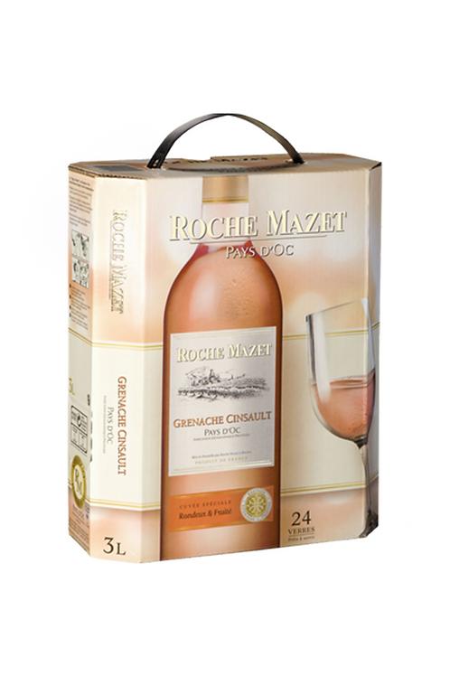 Vin rosé  Cinsault ROCHE MAZET 3L
