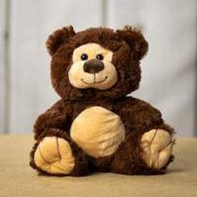 10 inch Smiling Teddy Bear in Dark Brown