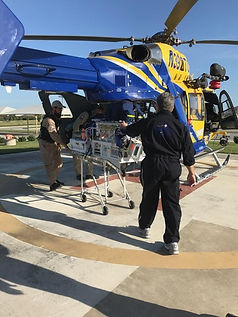 nicu baby being transported by helicopter