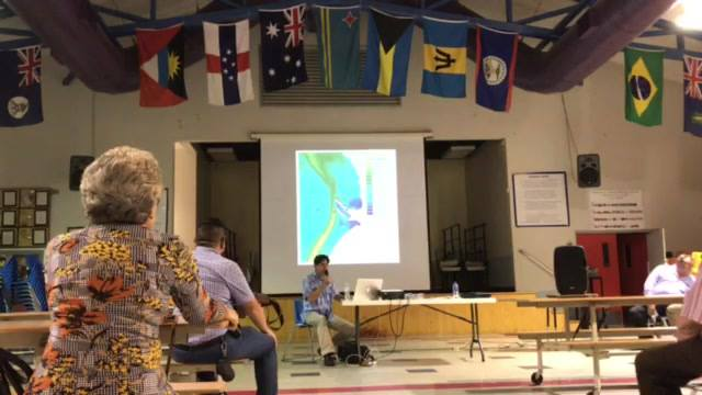 Courtney Platt's presentation last night at the Opposition's Meeting on the Cruise Berthing Facility in West Bay.  Catch tonight's meeting at the South Sound Community Centre starting 7:30pm. Other meetings will take place through the week.  This is