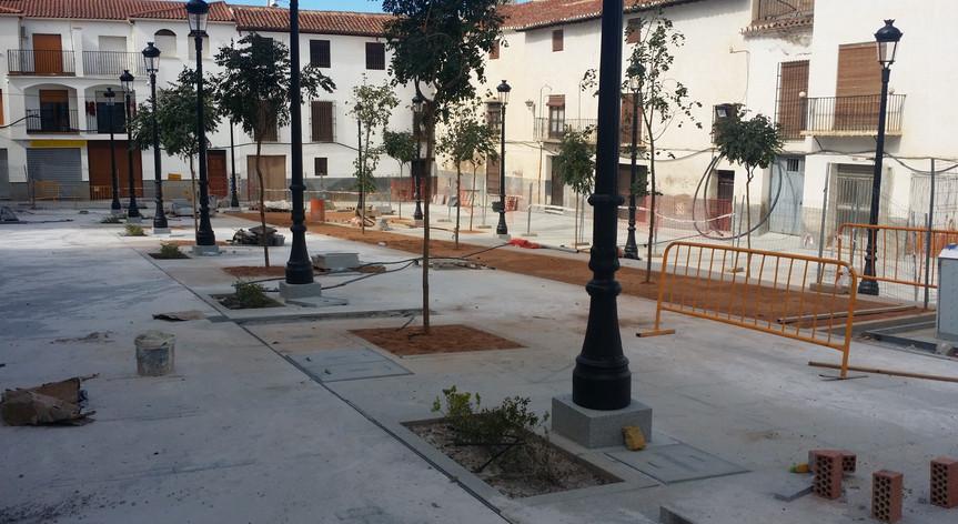 Reurbanización plaza Conde Luque de Guadix, Granada