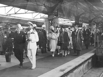 Jan Smuts with the British Royal Family in South Africa, 1947