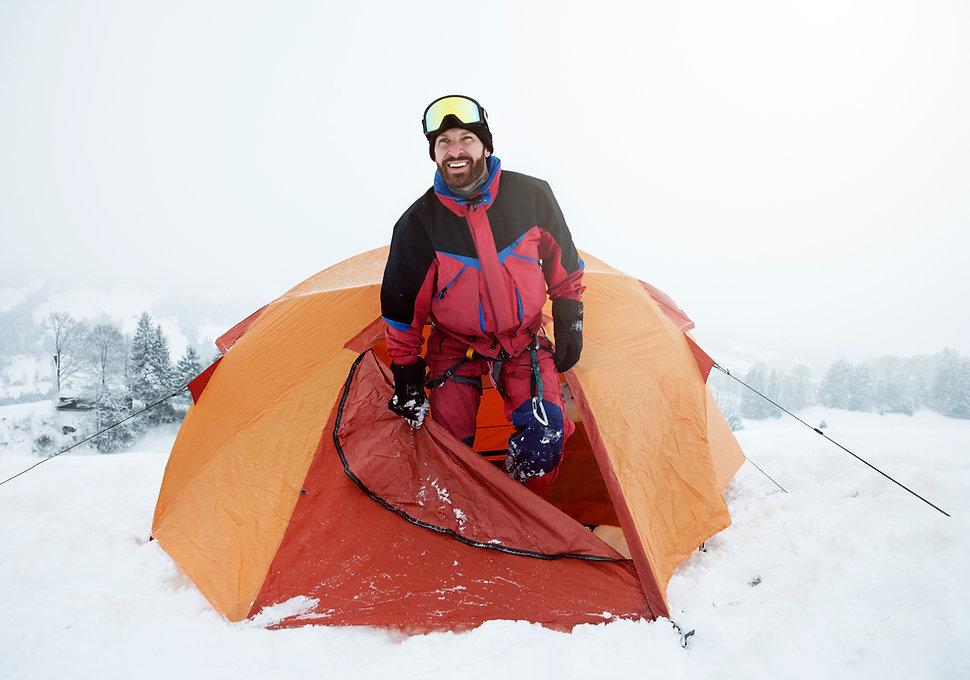 Çadırı'nda Kar Trekker