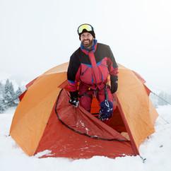 Snow Trekker in Tent