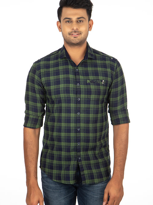 Indigo Chex Full Sleeve Shirt - 340