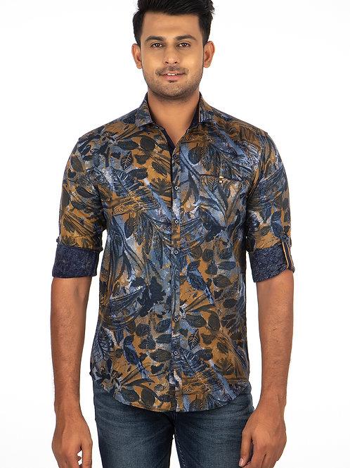 Floral Print Full Shirt - 344