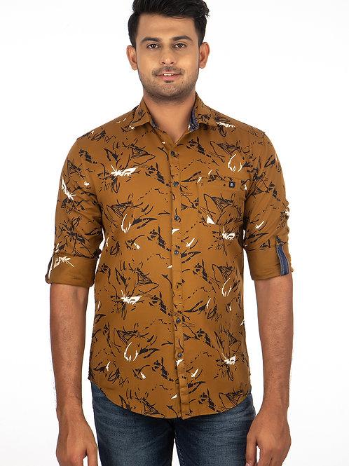 Twill  Printed Full Sleeve Shirt - 303