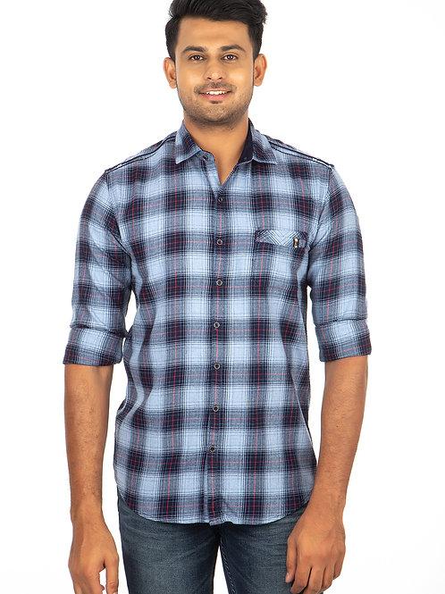 Indigo Chex Full Sleeve Shirt - 215