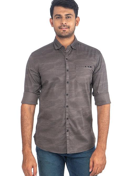 Self Printed Full Sleeve Shirt - 005