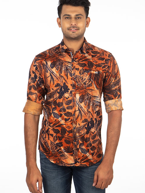 Floral Printed Full Sleeve Shirt - 309