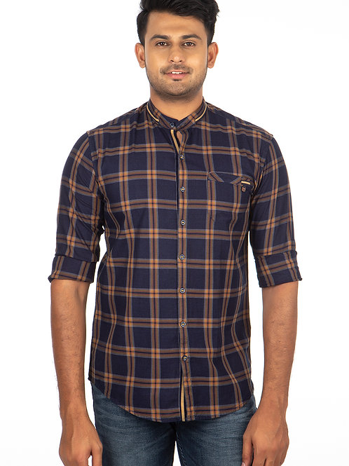 Indigo Chex Full Sleeve Shirt - 252
