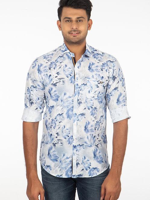 Printed Linen Full Sleeve Shirts - 186