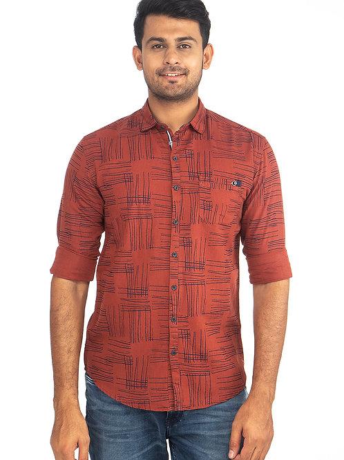 Self Printed Full Sleeve Shirt