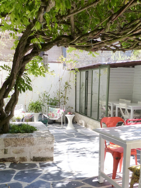 terrasse avec verrière