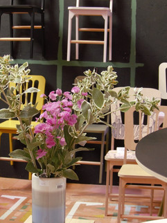 chaise design Blomkäl