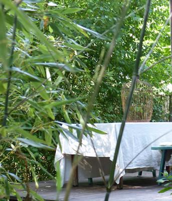 table et bambous
