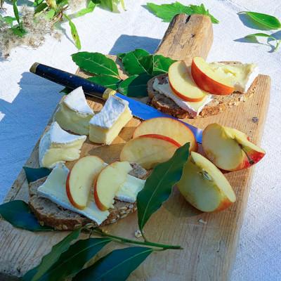 plateau pommes et fromage