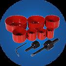 Comprehnsive range of hole saws