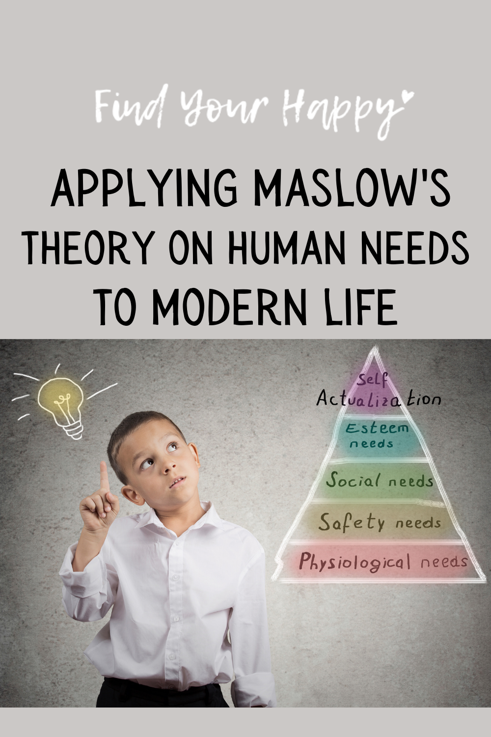 Maslow's theory on human behavior outlined the basic needs all humans share. Meeting these needs is they key to finding happiness.
