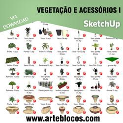Vegetação e acessórios I