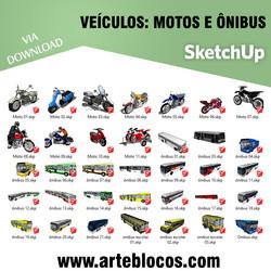 Veículos - Motos e ônibus