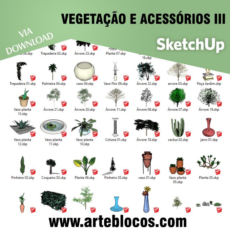 Vegetação e acessórios III
