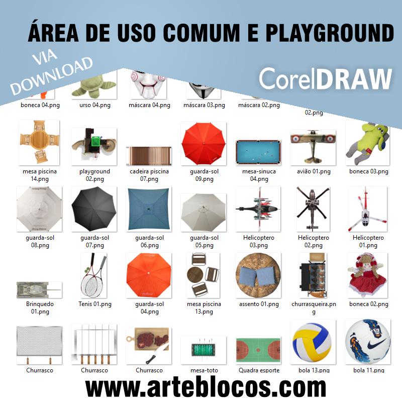 Área de uso comum e Playground
