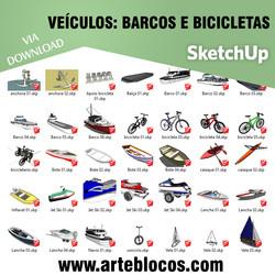 Veículos - Barcos e Bicicletas